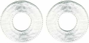 Lot of 2 White Abstract Art embroidered Circle Patches