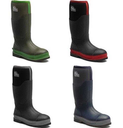Dickies Landmaster Sicurezza Stivali di gomma impermeabile 5.5-12 Pro Acciaio Puntale Stivali 5.5-12 impermeabile cf77e0