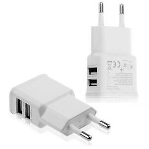 ALIMENTATORE CARICABATTERIE DOPPIA USCITA USB PER SMARTPHONE E TABLET UNIVERSALE