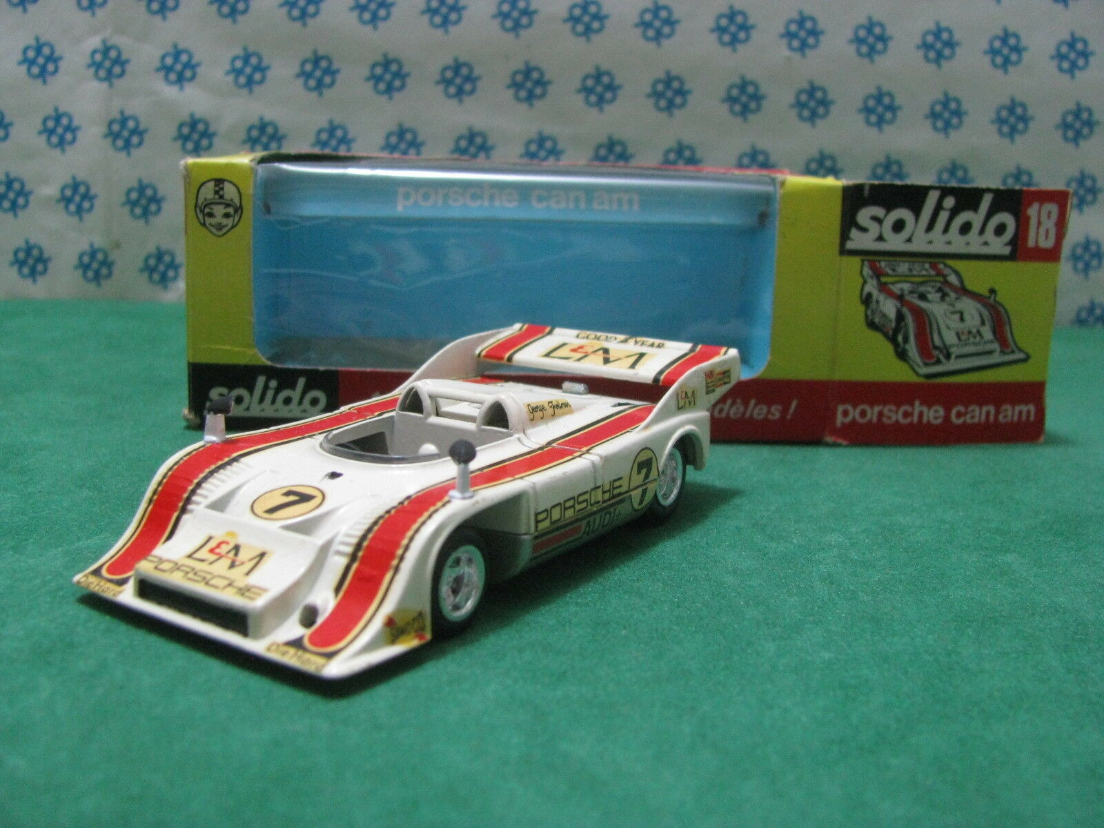 Vintage - Porsche 917 10 T.c.Can-Am Ecrans Compresseur - 1 43 Solido N°18