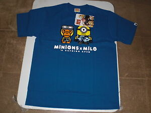 4e439356 Authentic A Bathing APE BAPE x MINIONS TEE #2 T SHIRT BLUE L XL NEW ...