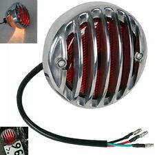 Round Motorcycle Tail Brake Light For Bobber Chopper Rat Custom Chrome A7