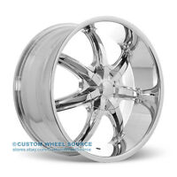 24 U2 35 S Chrome Rims Chevy Dodge Ford Gmc Lincoln Wheel & Tire Package