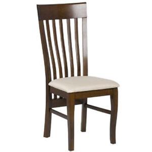 4 Sedie da cucina classica in legno sedia seduta in tessuto ...
