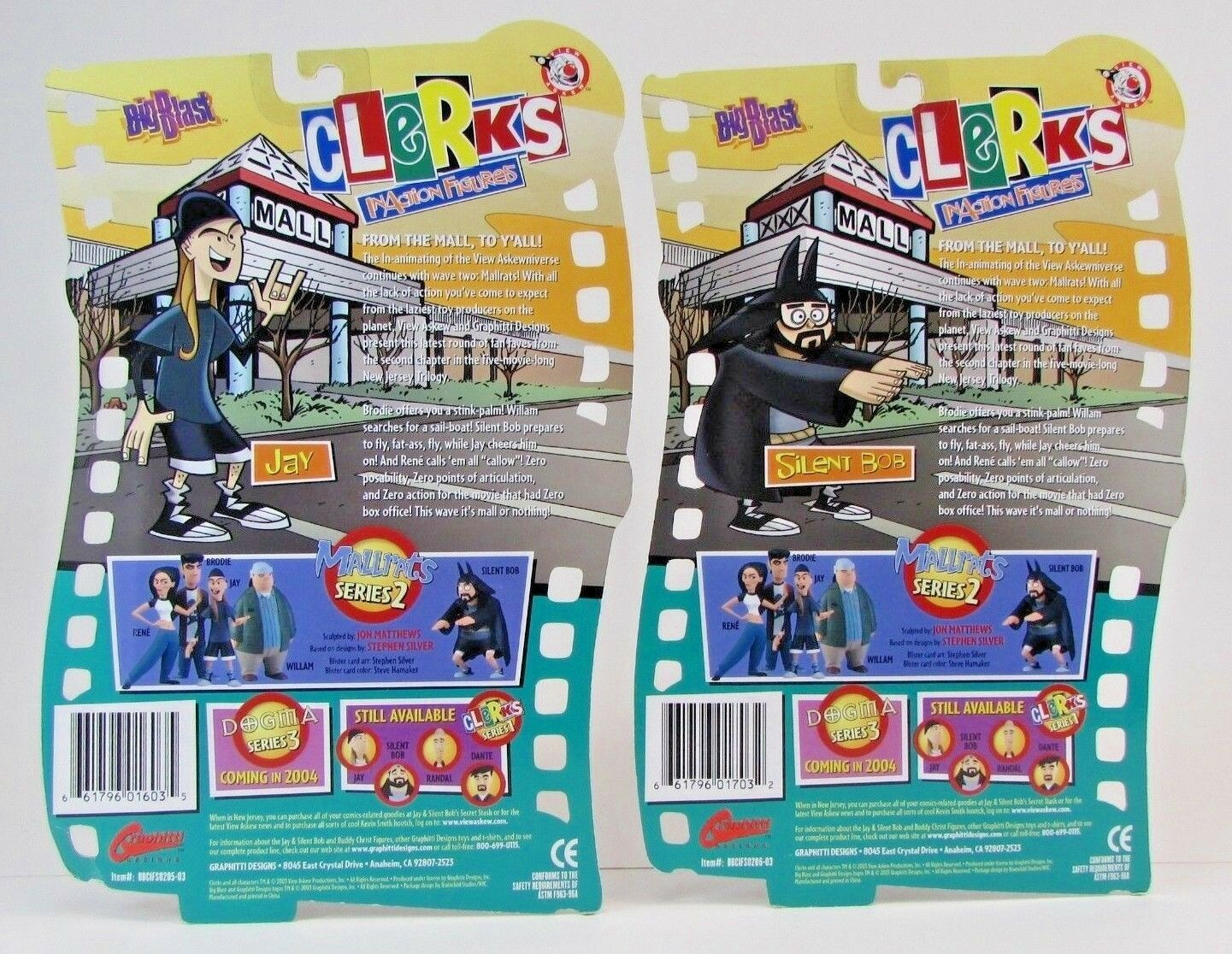 NEW NEW NEW Clerks Mallrats Series 2 Inaction Figure Jay & Silent Bob  FREE SHIPPING 32b2c1