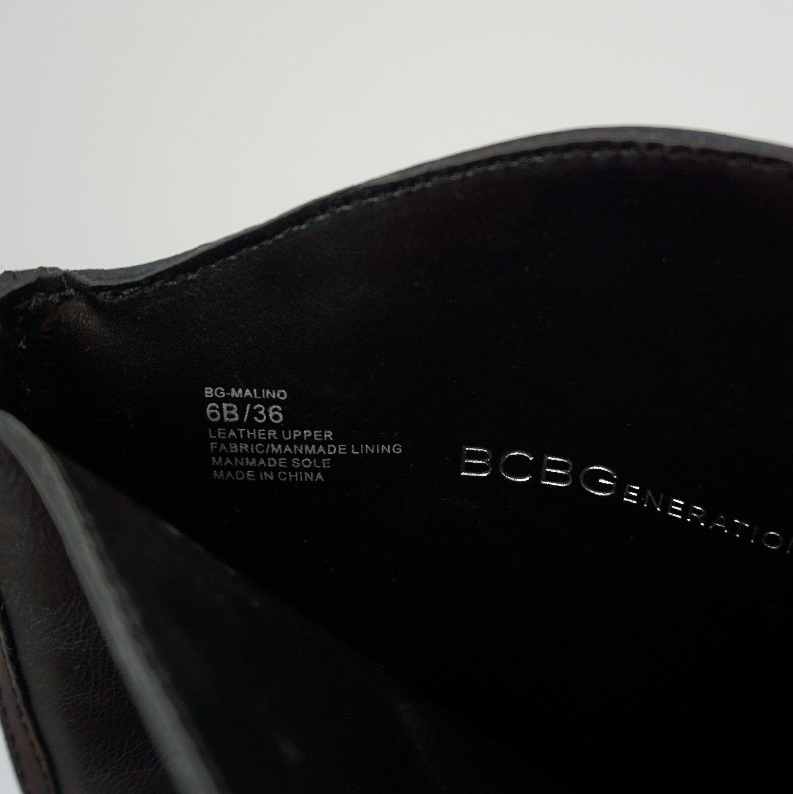 Bcbgeneration Malino Zapato de la mujer alto tacón bajo la de rodilla Botas altas de cuero negro 6M e58435
