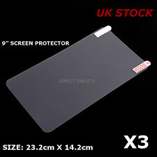3x 9 INCH SCREEN PROTECTOR ALLWINNER ANDROID TABLET PC