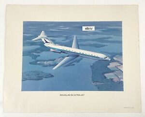 1966-North-Central-Airlines-Douglas-DC-9-31-Fan-Jet-Poster-16-X-20-Good-Shape