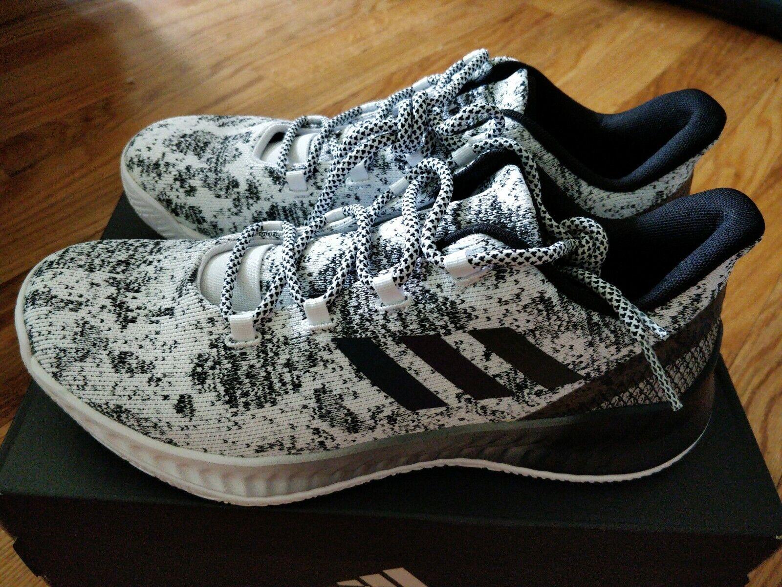 Mens Adidas Harden B  E X - Basketball  scarpe (Modello CG582) Dimensione 8.5 - Bianco  Blk  spedizione veloce in tutto il mondo