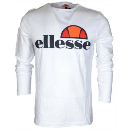 Ellesse Grazie Long Sleeve Optic White Cotton T-Shirt