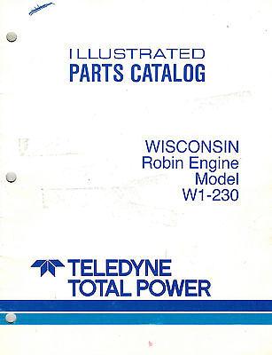 WISCONSIN/ROBIN W1-230 ENGINE PARTS MANUAL NEW | eBay | Wisconsin Robin Engine Parts Diagram |  | eBay