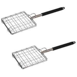 2x retrattile in acciaio inox grill griglia grill-Griglia telescopico-Ruggine Grill, circa 88 cm