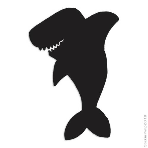 Size #987 Shark Funny Cute Decal Sticker Choose Color