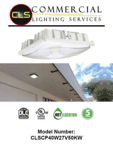 Area Light LED Canopy Light 40W 60W White 5000K Parking Garage Security