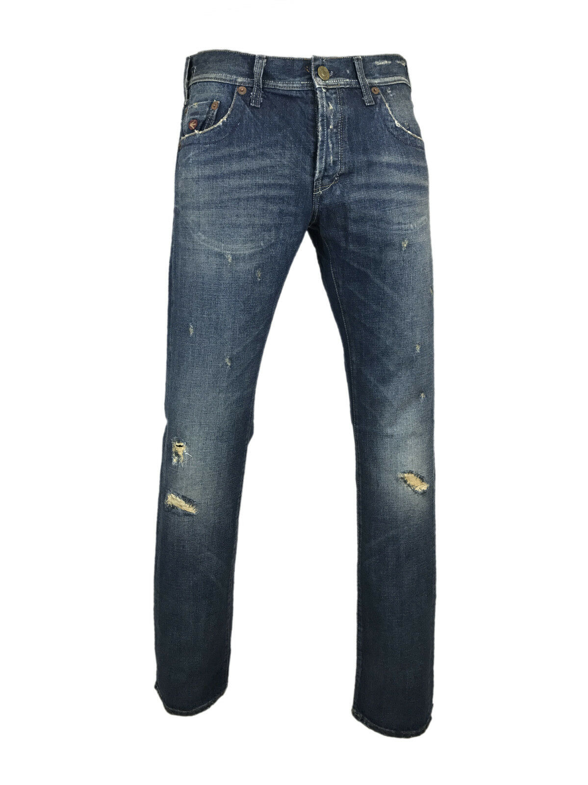 Energie Justin Vintage Jeans with Worn Out Effect