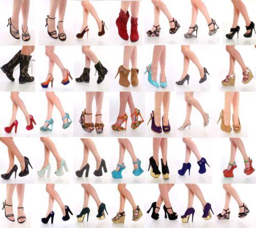 NEW Womens Wholesale Lot Mix High Heel Platform Evening Pump Sandal Shoes
