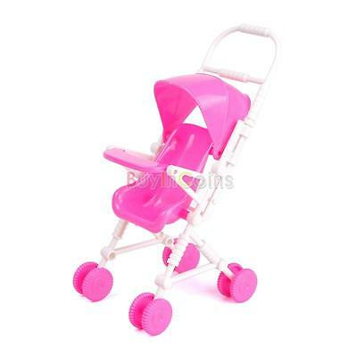 New Pink Assembly Baby Stroller Trolley Furniture for Barbie Doll Child Girl AU