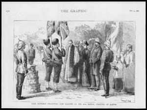 1886-Antique-Print-INDIA-Alipur-Bengal-Infantry-New-Colours-Lady-Dufferin-107
