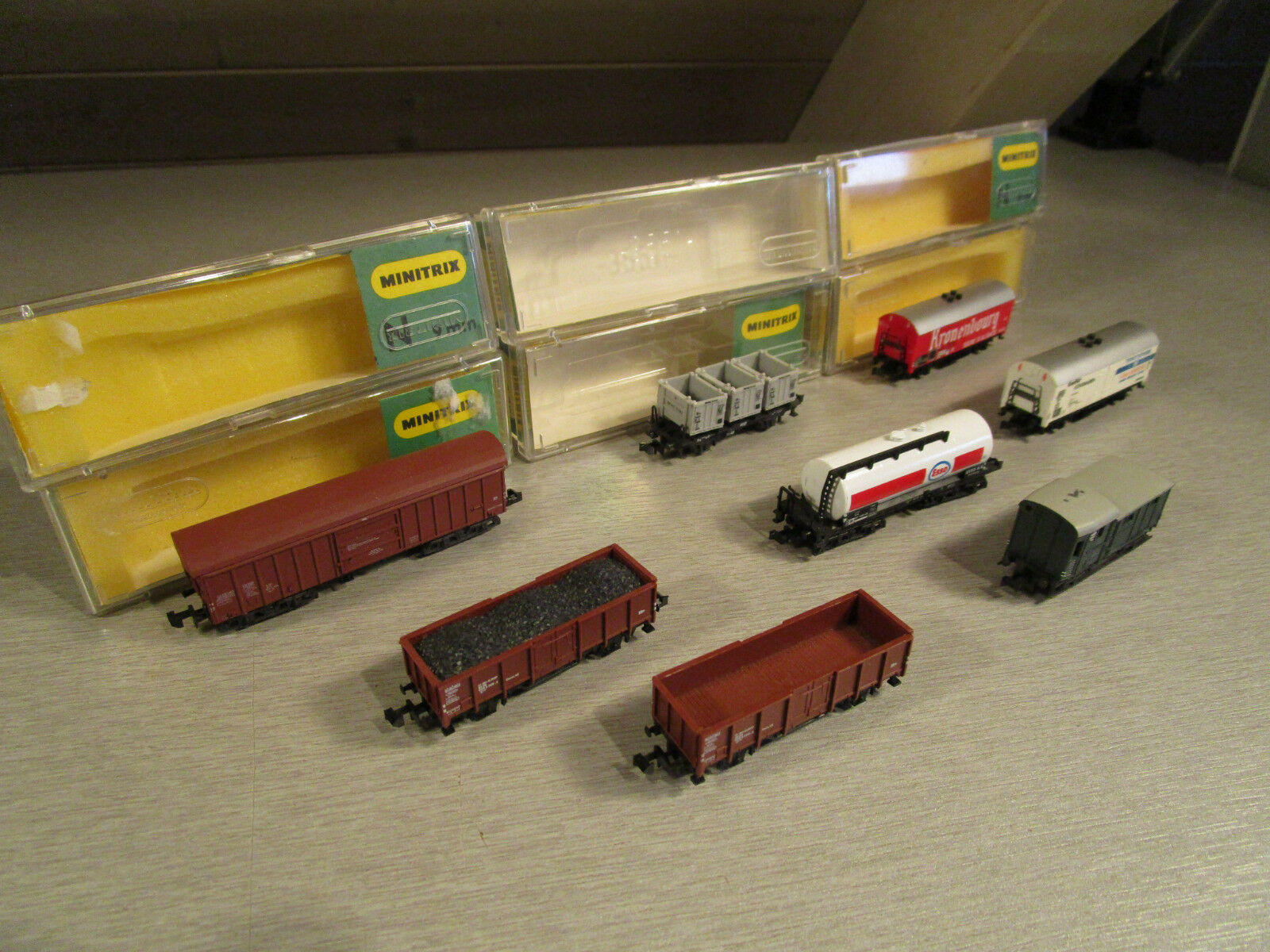 8x Trix Minitrix 3594 usw. usw. usw. Güterwagen Kesselwagen Bierwagen usw.  Spur N  | Großhandel  fcb044
