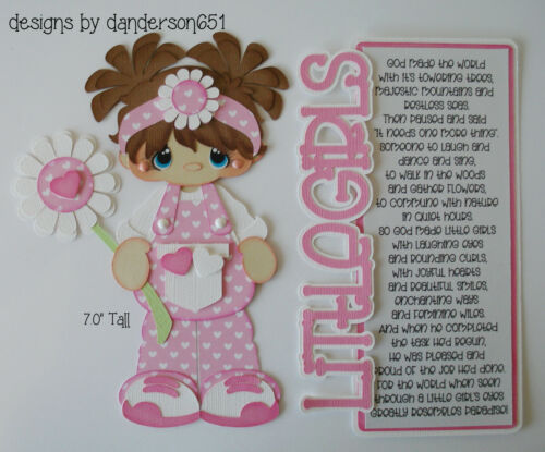GiRlS LoVe KiDs PreMade Paper Piecing Die Cut Scrapbook Border danderson651