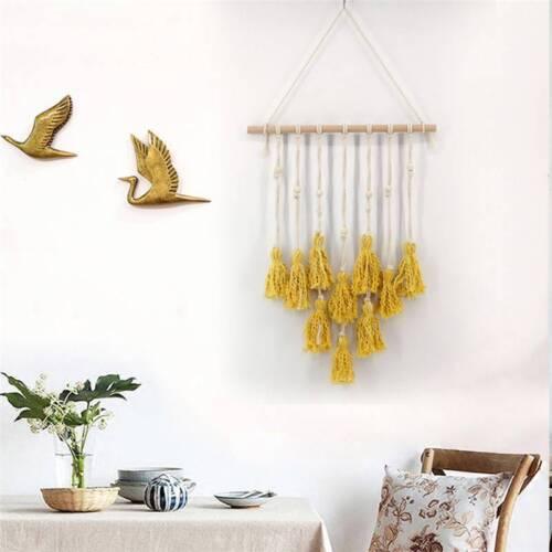 Tassel Macrame Woven Wall Hanging Handmade BOHO Chic Craft Art Decor