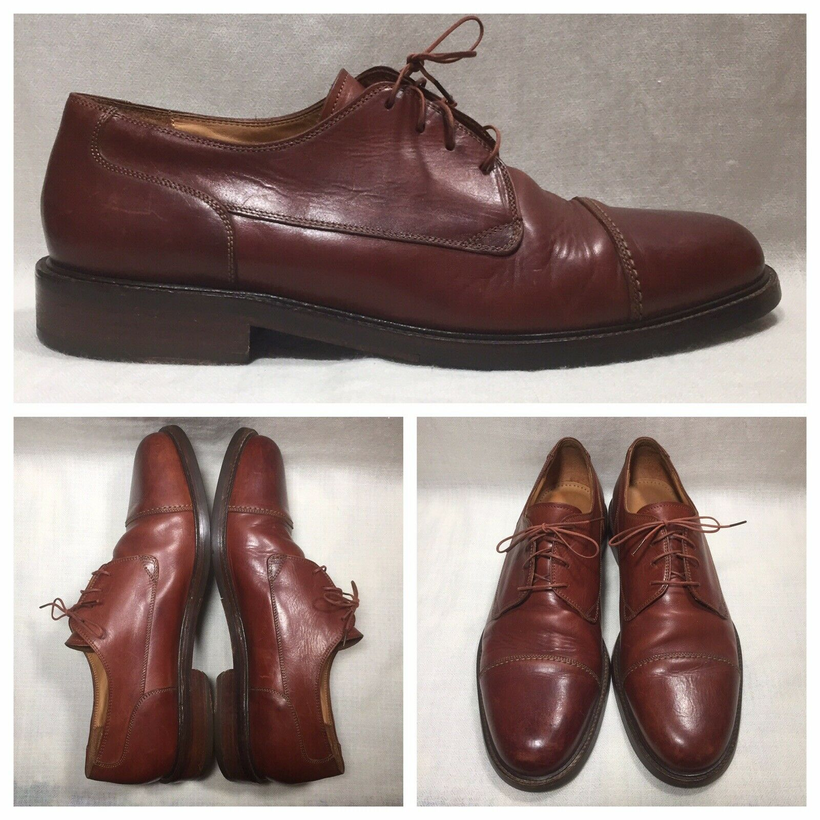 Cole Haan Made in  Mens Dress Casual Size 13 D Brown Leather Oxfords 6476