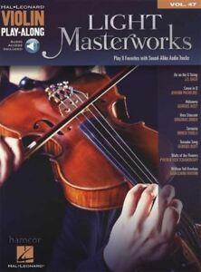 RéAliste Lumière Masterworks Violin Play-along Sheet Music Book/audio-afficher Le Titre D'origine Assurer IndéFiniment Une Apparence Nouvelle
