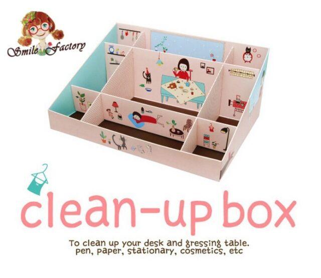Cute Makeup Perfume Clean Up Office Pen Desktop Diy Storage Boxes Organizers