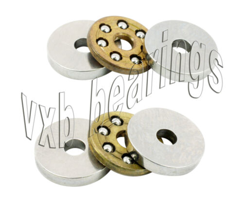2 Thrust Miniature Bearing 10mm x 18mm x 5.5 Bearings