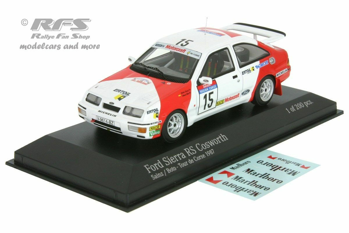 FORD Sierra RS Cosworth-Rally Tour de Corse 1987-Sainz - 1:43 Minichamps
