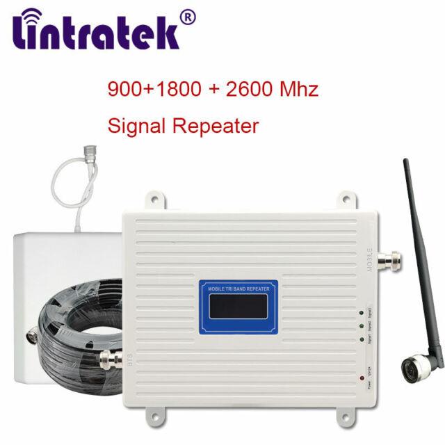 Kit Yagi Antenan Teléfono Celular 2600MHz LTE 4G Repetidor de señal Booster Amplificador