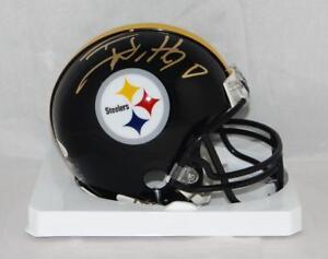 50d0c02d6 Image is loading TJ-Watt-Autographed-Pittsburgh-Steelers-Mini-Helmet-JSA-