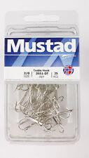 Mustad 3551dt-2/0-25 Treble Ringeye Sport Duratin Sz 2/0 Fish Hooks 25pk Fishing