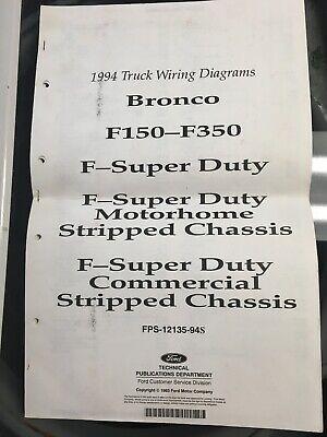 1994 FORD TRUCK WIRING DIAGRAMS F150-F350 SUPER DUTY ...