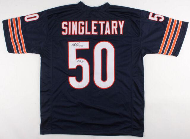 d5a532461 Mike Singletary Chicago Bears Signed Autograph Blue Football Jersey JSA COA