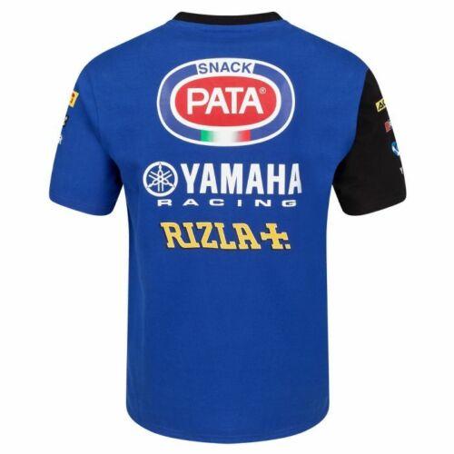 19yamwsbk-r-act1 Oficial Pata Yamaha Equipo de Carreras Camiseta