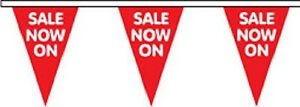 SALE NOW ON Triangular Superior Polyester Bunting - 10m with 24 Flags