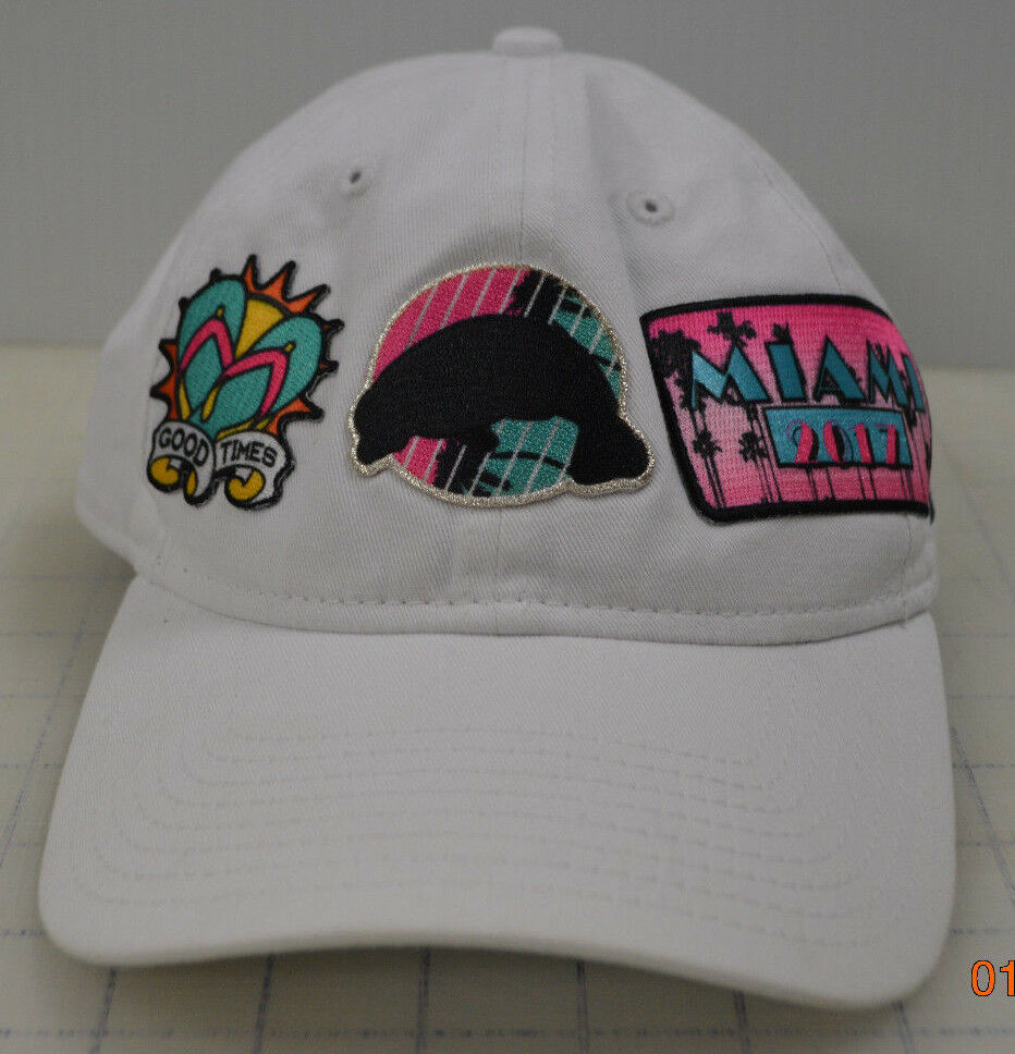 9TWENTY Adjustable Strapback New Good Era Hat Cap White Good New Times Miami 2017 Patch 07198e