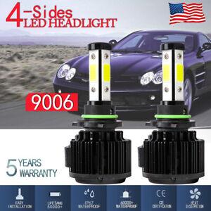 4-sides 9006 HB4 LED Headlight Kit Low Bean Bulb CANBUS EMC 120W 32000LM 6000K