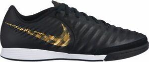 Nike-Hommes-Salles-Chaussure-De-Football-Chaussures-tiempox-Legend-VII-Academy-IC-Noir-Or