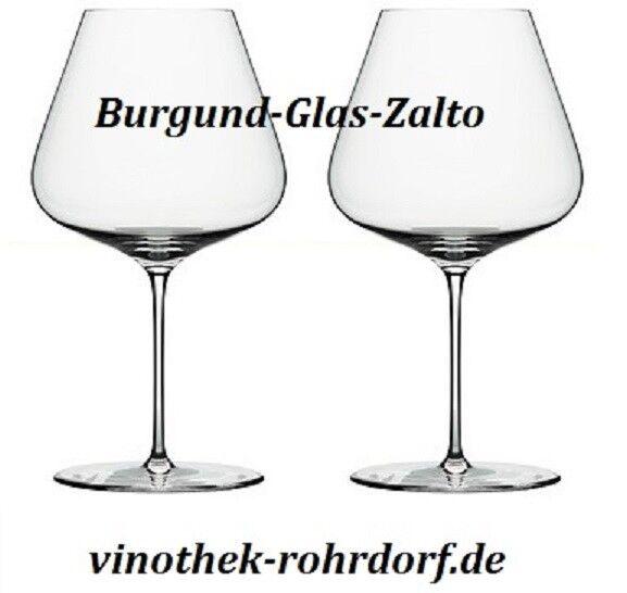 6er zalto pense type Bourgogne verre en Carton Cadeau