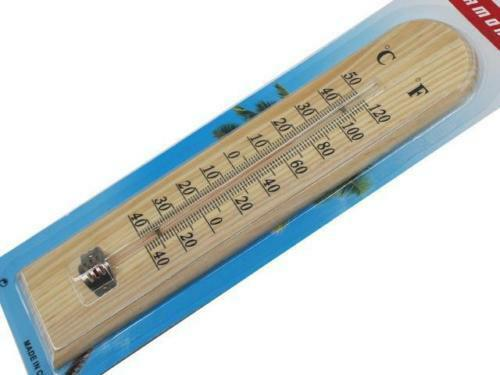 Termometro de madera de 25 cm casa hogar camping