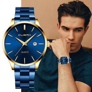 Herrenuhr Relojes de Hombre Edelstahl Quarz leuchtende Klassische Uhren