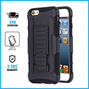iPhone-6S-Future-Armor-Cover-Cas-Coque-Etui-Hoesje-Hard-Case-Black-Kickstand