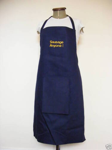 FUNNY BBQ  APRONS NOVELTY MAN SECRET WILLY  /' Sausage Anyone /' 8 colors