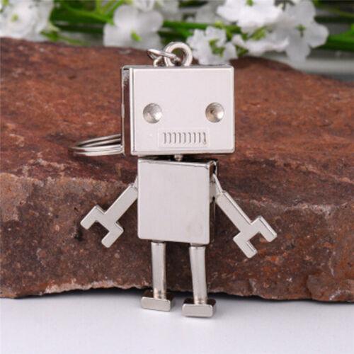 Cute Movable Metal Robot Keychain Keyring Key Chain Ring Bag Purse Pendant Gi  M