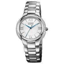 Citizen Eco-Drive Ciena 20 Diamonds Silver Dial Women's Watch EM0090-57A SD