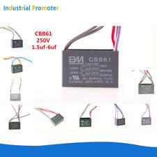 Cbb61 Fan Capacitor Speed Regulating Series 25uf 6uf Wire 250v 300v Ac Ceiling