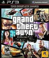 Grand Theft Auto: Episodes From Liberty City (Sony PlayStation 3, 2010) red labe