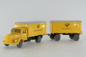 A-S-S-WIKING-LKW-ALT-MB-3500-LASTZUG-BUNDES-POST-1965-GK-550-17-CS-1015-3-RMG
